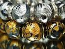 オラオラセットアップ!!黄金×白銀皇帝龍ドラゴンアゲート数珠!!2本セット