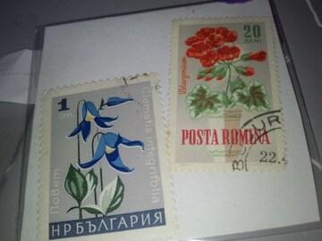 使用済みペーパーオフ 外国切手・3枚