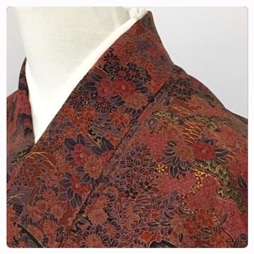 美品 特選 更紗模様 極上 逸品 正絹 未使用 小紋  袷 リサイクル