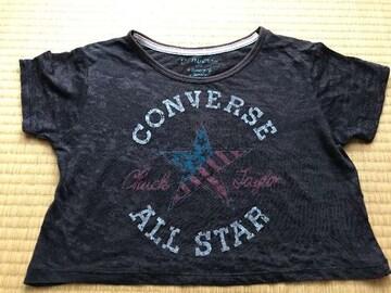 コンバース CONVERSE ダメージTシャツ&ランニング 紺140