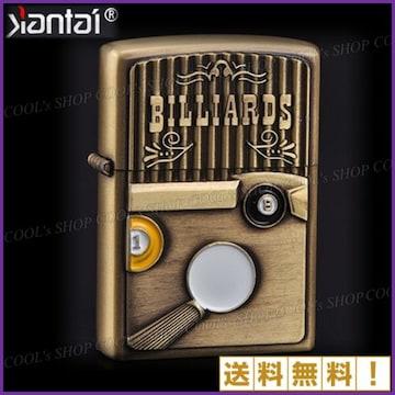 ビリヤード デザイン オイルライター Jantai ゴールド Zippo 金