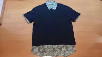 国内正規品★美品Louis Vuittonルイヴィトン★men'sメンズ黒Tシャツモノグラム