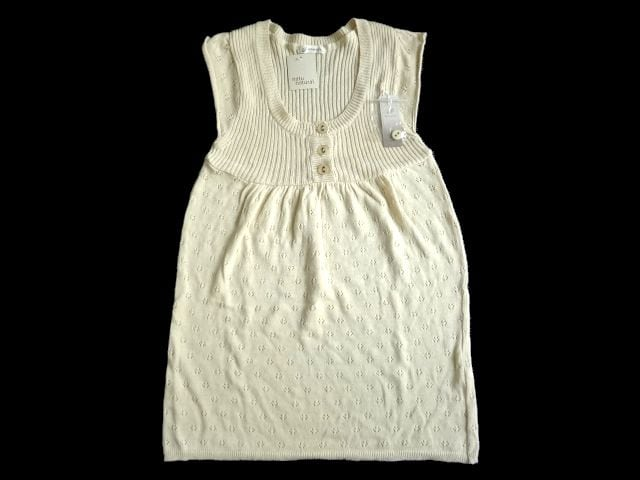 新品 native wit 綿 麻 ノースリーブ ニット チュニック ベスト  < 女性ファッションの