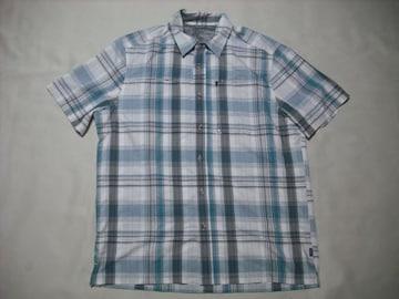 男 EDDIE BAUER エディーバウアー 半袖チェックシャツ Lサイズ