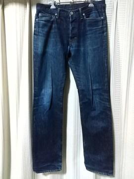 ランバンオンブルーLANVINenBlue デニムパンツサイズ30青ブルージーンズ中古古着服