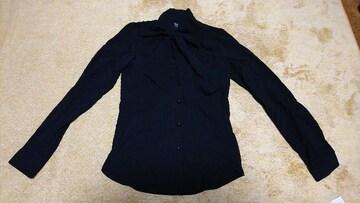 デュラスアンビエント 長袖 シャツ 新品 ブラウス 襟元リボン