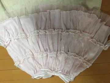 美品☆BABYTHESTARSSHINEBRIGHT☆リボンレーススカート☆ピンク
