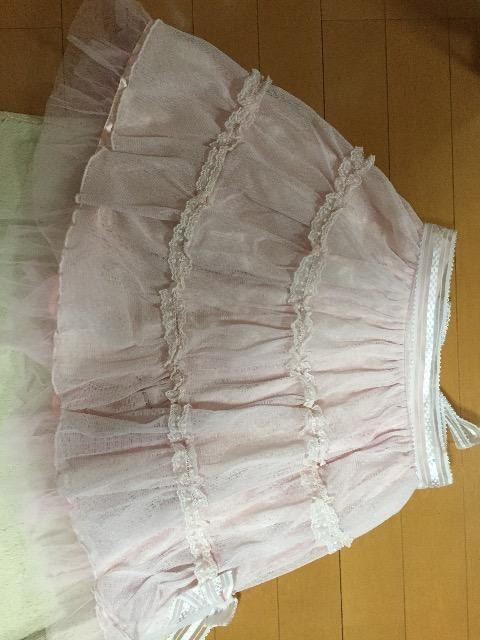 美品☆BABYTHESTARSSHINEBRIGHT☆リボンレーススカート☆ピンク < ブランドの