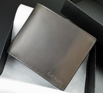 新品☆箱付 ポールスミス 人気色ムラ加工 二つ折り財布 f124