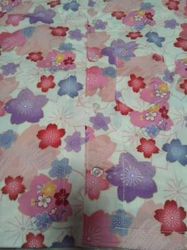 ☆処分品=白×桜和柄ダボシャツ90