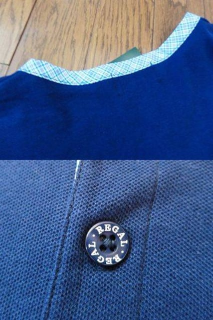 REGAL リーガル シャツ チェック 半袖 タグ付き 未使用 アングル製 M < ブランドの