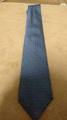BVLGARI ブルガリ ネクタイ ブルー ロゴ柄 正規品