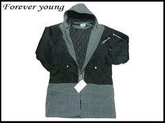 新品 Forever young のフード付ロングジャケット XL