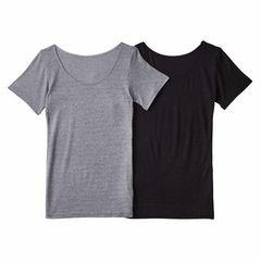 3Lー4Lサイズ2枚セット!吸湿発熱!3部袖ストレッチインナーシャツ!薄手タイプ新品