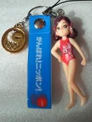 オリンピック 金メダル がんばれ 日本 美少女 水着 フィギュア 携帯ストラップ