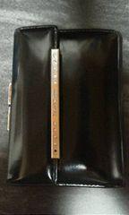 ピンキー&ダイアン黒革製2つ折り財布