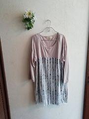 w closet wears inc ☆重ねレースロングカットソーミニワンピ