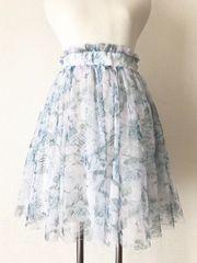 [GRL]★花柄・チュールスカート・サイズ[M]★