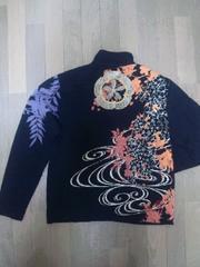 セール 新品 [ 絡繰魂 ]家紋 刺繍 フルジップ ジャケット スカジャン 好きにも