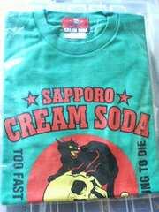 札幌クリームソーダ15周年Tシャツロカビリー角ドクロレア