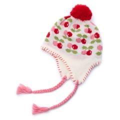 新品*HusHusH*可愛いサクランボ柄ニット帽子《48-50cm》