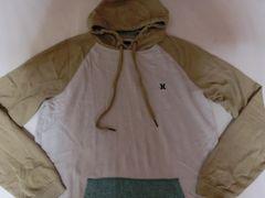 【Hurley】ロゴ刺繍入リプルオーバーパーカーUS S オフホワイト