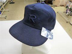 f)M 55-57cm(紺)キャップ 帽子 野球帽 刺繍 ポケット収納