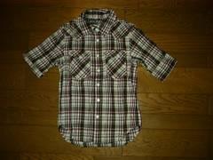 新品LHP取り扱いBULLHORNチェックシャツM5分丈ブルホーン