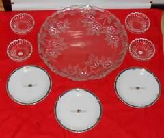HOYAクリスタルガラス器大小&オリエントEXP小皿セット