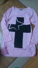 JBG ピンク ロングTシャツ