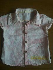 新品タグナシ。ココルル。ベィビー。サーフシャツ。ピンク1歳用