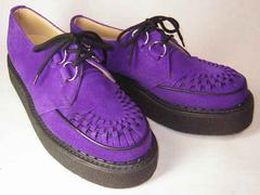 ジョージコックスGeorgeCox新品3588パープル スエード靴uk4