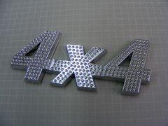 ● 4×4  LUXURT CRYSTAL TYPE EMBLEM エンブレム ●