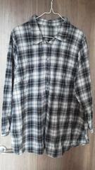 5Lチェックシャツチュニック 大きいサイズ