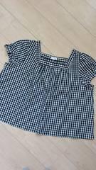 vert dense*袖リボンスクエアネックブラウス サイズ23(10)/大きいサイズ