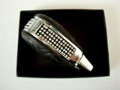 12-1 クリスタル レザー ブラック シフトノブ 新品