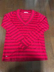 美品ラコステVネックセーターサイズ36(S)