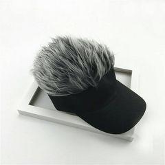 シルバー ヘアー バイザー 帽子