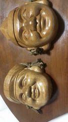 讃岐欅一刀彫彫刻(戎橋、大黒)アンティーク
