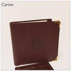 ☆本物 未使用☆ Cartier マストライン 二つ折り財布 / ボルドー