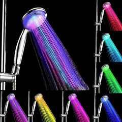 激安商品♪おしゃれ LEDシャワーヘッド レインボー 虹色