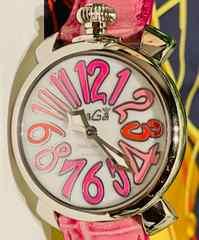 良品ガガミラノレディース時計マヌアーレクオーツ式40mm革ベルト