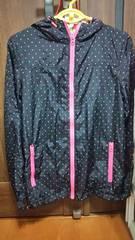 ★黒×ピンク カラフルドットジャンパー160★