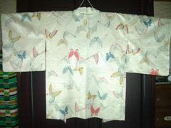 蝶々紋様の羽織  未使用品