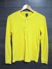 □GAP/ギャップ 3Bヘンリーサーマル ロングTシャツ・XS/メンズ イエロー
