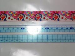 【ピンク】23mm巾 ドラちゃん柄リボン1M