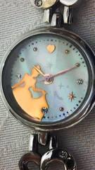 GOLDシンデレラ☆ハート・ライトストーン4石腕時計稼動中