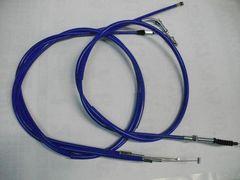 (2004C)CB250TCB400Nホーク10cmロングワイヤーセットブルー