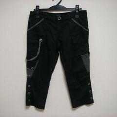 SLIP ハンパ丈 デザイン パンツ M ブラック