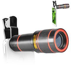 【人気】スマホレンズ 望遠 クリップ式 12倍 カメラ ズーム